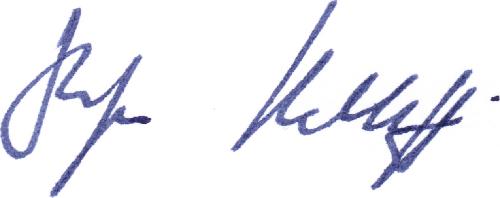 Dr. Kalthoff Signatur